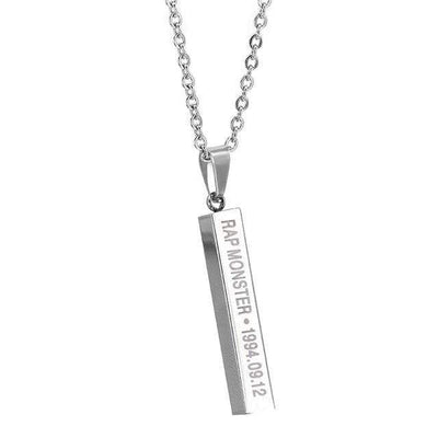 Personalized Jewelry Necklace Silver Polished - Euforia Jewels