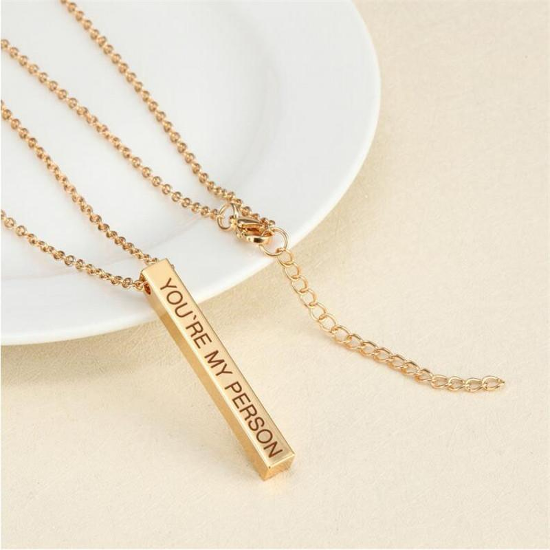Personalized Square Bar Necklaces - Euforia Jewels