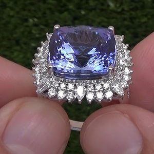 Heart of Ocean Tanzanite Wedding Ring - Euforia Jewels