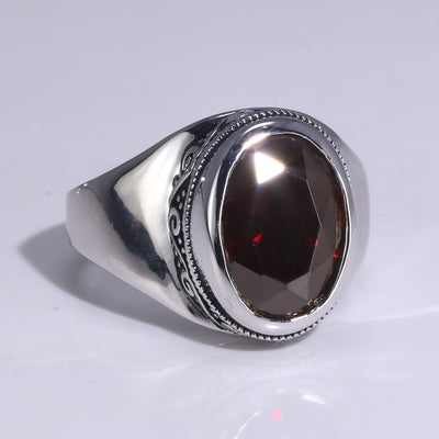 Natural Amethyst Vintage Ring 925 Sterling Silver - Euforia Jewels