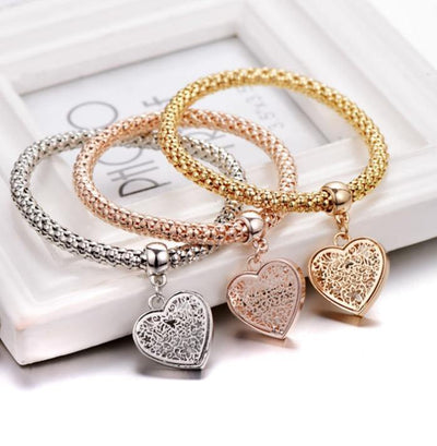 """TREE OF LIFE"" HEART EDITION CHARM BRACELET WITH AUSTRIAN CRYSTALS - Euforia Jewels"