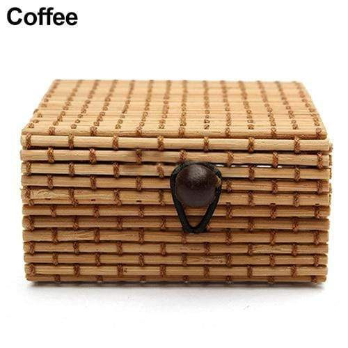 Ring Necklace Earrings Bamboo Wooden Case Jewelry Storage Boxes Holder Gift - Euforia Jewels