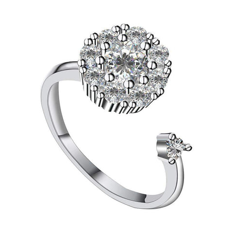 Blooming Rotating CZ Ring - Euforia Jewels