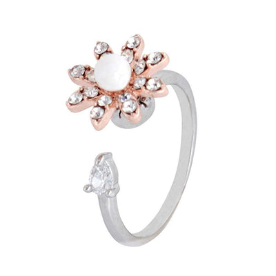 Flowery Rotating CZ Ring - Euforia Jewels