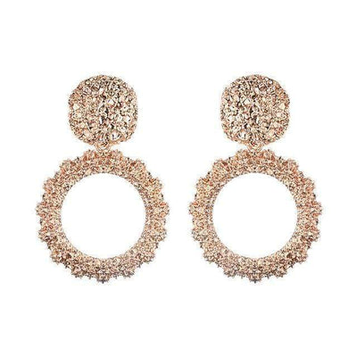 Round Vintage Earrings for women gold color big earrings 2018 fashion jewellery statement earings modern trendy summer  jewelry - Euforia Jewels