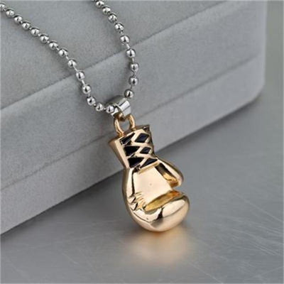 Sports Fitness Boxing Glove necklace Women Men Jewelry Gold Gun Black Two Color - Euforia Jewels