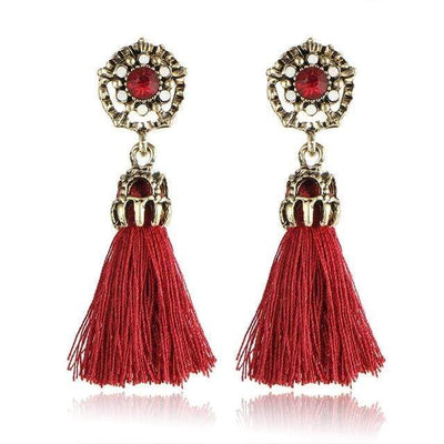 Tiny Tassel Earrings for Women Fashion Jewelry Vintage Velvet Ball Statement Fringed Drop Earring Female Jewellery 2018 New - Euforia Jewels