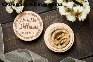 Wedding Ring Box Custom Name Handmade Letter Jewellery Box Boite A Bijoux Boite Cadeau Sieraden Doos Jewelry Boxes Ring Box - Euforia Jewels