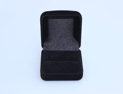 Wholesale Engagement Black Velvet Ring Box Jewelry Display Storage Foldable Case For Wedding Ring Valentine's Day Gift Organizer - Euforia Jewels