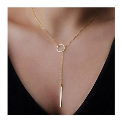 X349 Fashion Simple Bohemain Heart Moon Pendant Chain Necklace For Women Gold Color Multi Layer Choker Statement Necklace Charm - Euforia Jewels