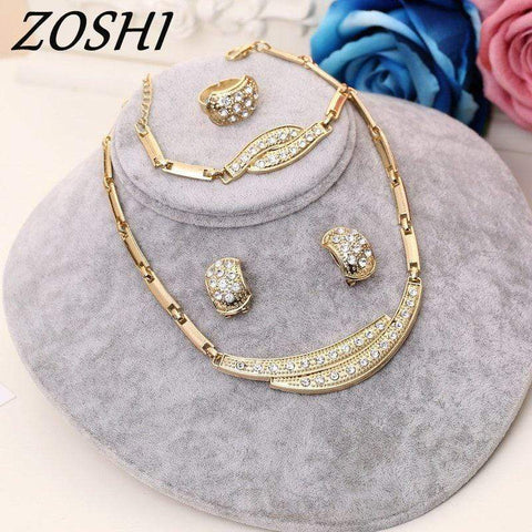 ZOSHI Jewelry Sets Women Indian African Jewelry Set Plant Party Cheap Wedding Jewellery For Brides Dubai Gold Jewelry Sets - Euforia Jewels