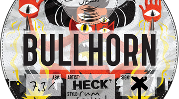 BULLHORN. Rum Soaked IPA. A collab with HECK.