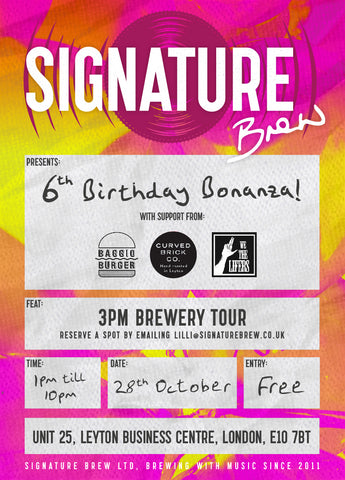 Signature Brew's 6th birthday Party