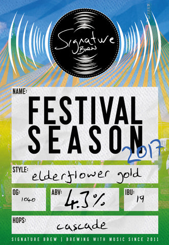 Signature Brew Festival Season Elderflower Golden Ale