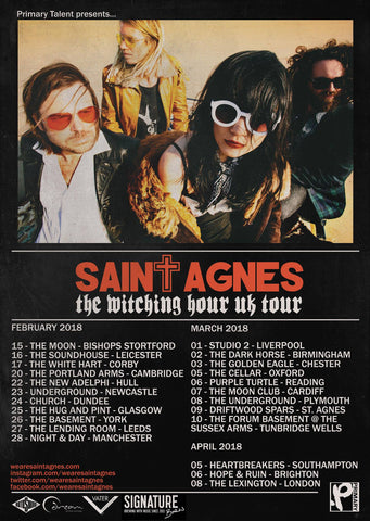 Saint Agnes UK Tour Signature Brew