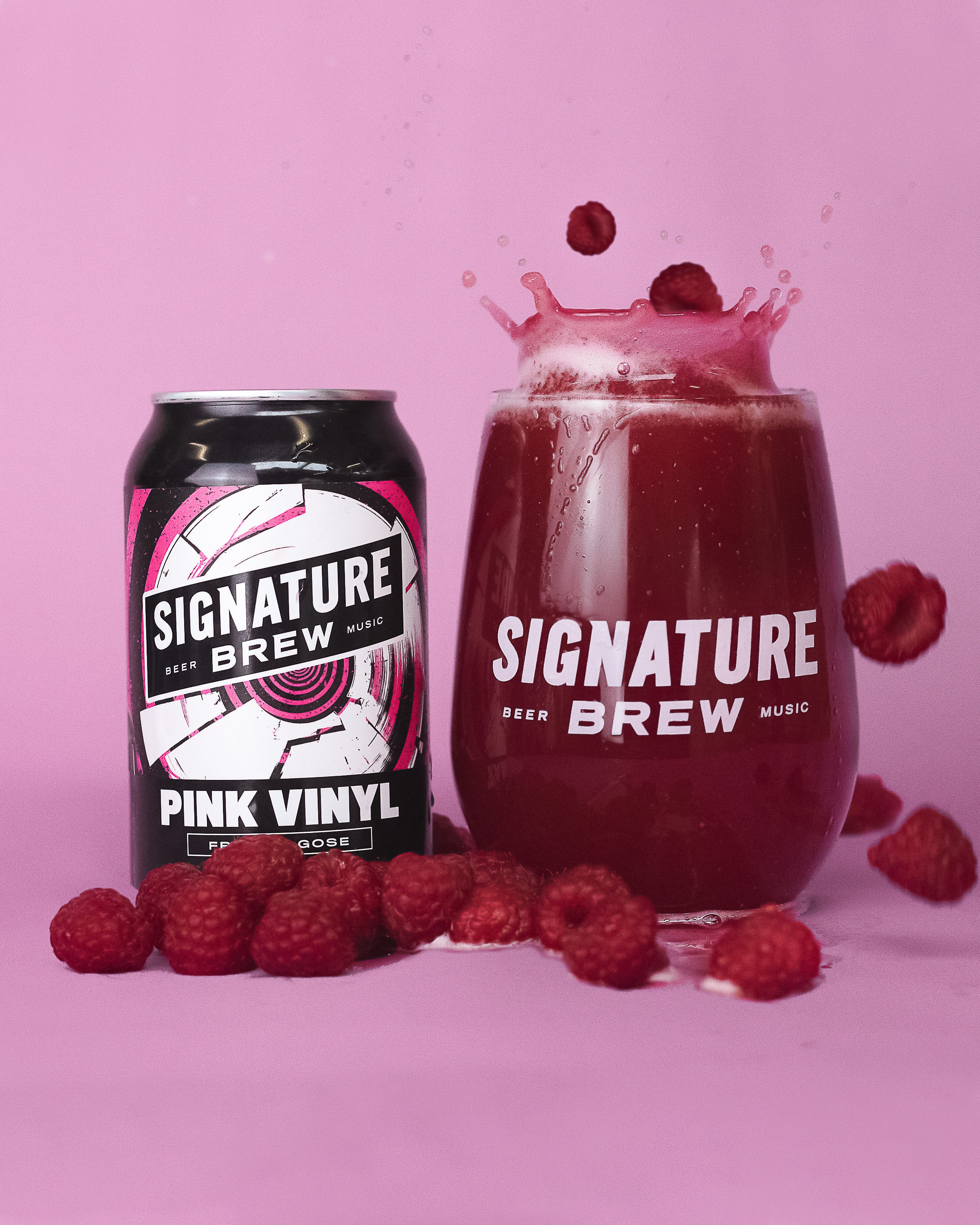 Signature Brew Pink Vinyl Gose Sour Black Cherry And Raspberry UK Brewery East London