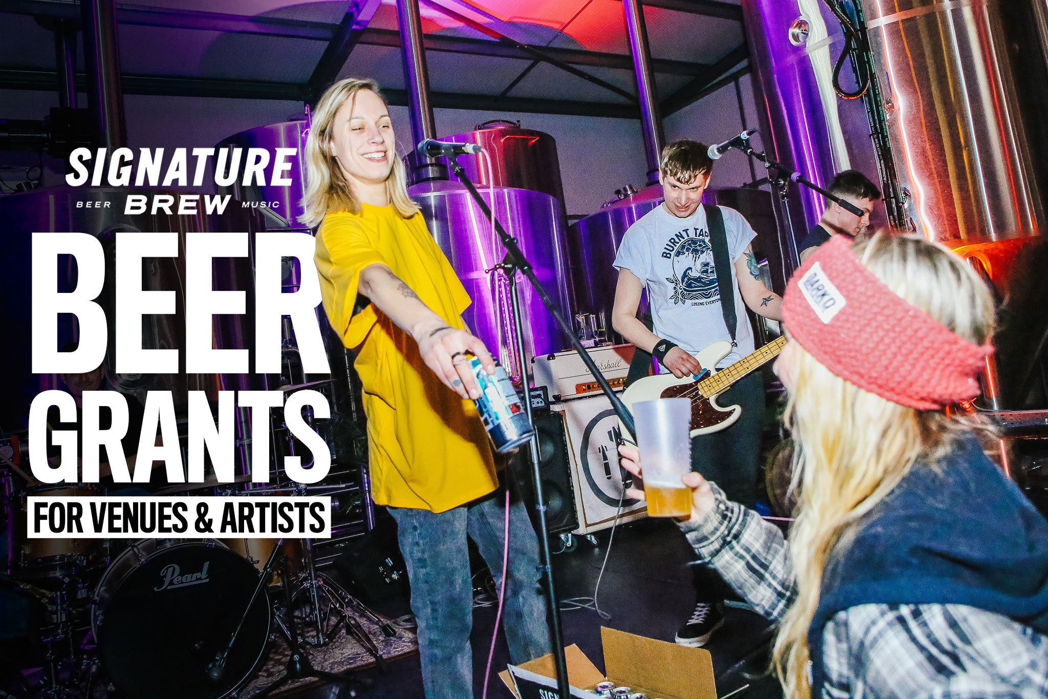 Signature Brew Beer Grants For Independent UK Music Venues And Bands