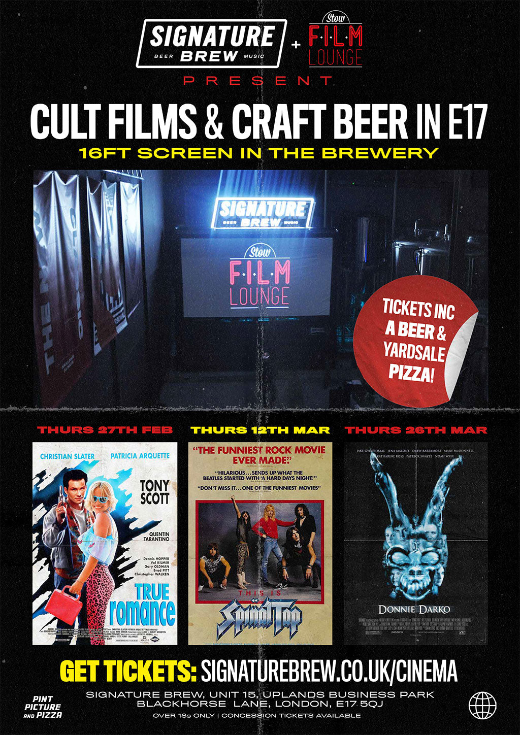 signature brew stow film lounge films movies walthamstow e17 cinema tickets