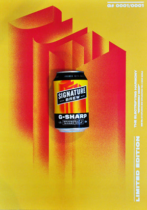 Signature Brew G-Sharp Grapefruit And Ginger Sour Craft Beer London UK Artwork