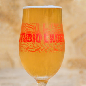 STUDIO LAGER HALF PINT GLASS
