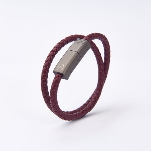 NILS 2.0 Cable - Bordeaux Red // Matte Gun Metal
