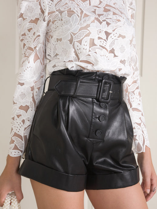 Faux Leather Short