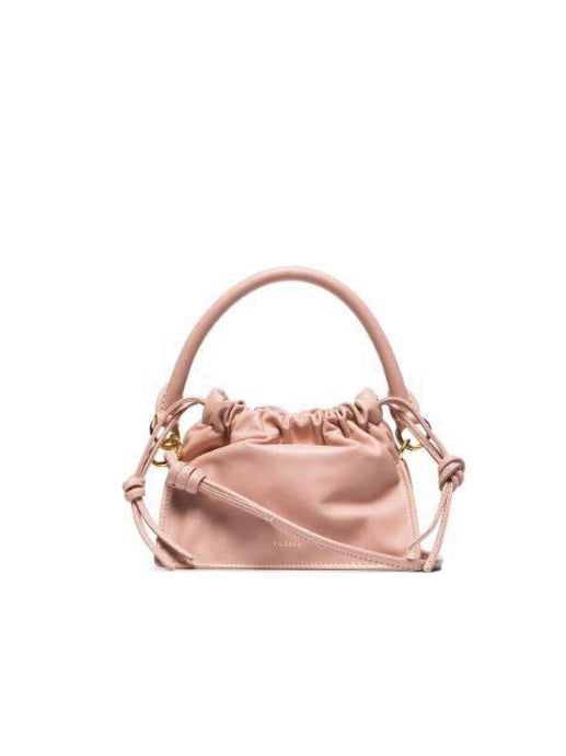 Mini Bom Rouched Leather Bag