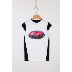 """Bugatti Automobiles"" Junior Sporty T-Shirt Macaron Logo"