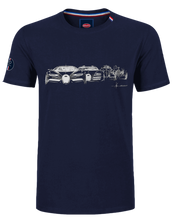 "Load image into Gallery viewer, ""Evolution"" T-Shirt Man Blue Navy"