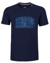 "Load image into Gallery viewer, ""Chateau"" T-Shirt Man Blue Navy"