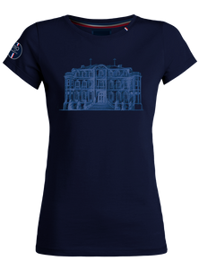 """Chateau"" T-Shirt Woman Blue Navy"