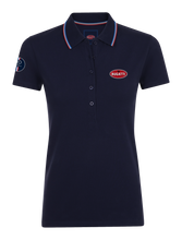 "Load image into Gallery viewer, ""110 Ans"" Polo Woman Blue Navy"