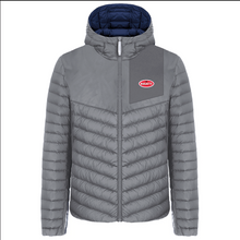 "Load image into Gallery viewer, ""Bugatti Automobiles"" Double Face Padded Vest Blue & Grey"