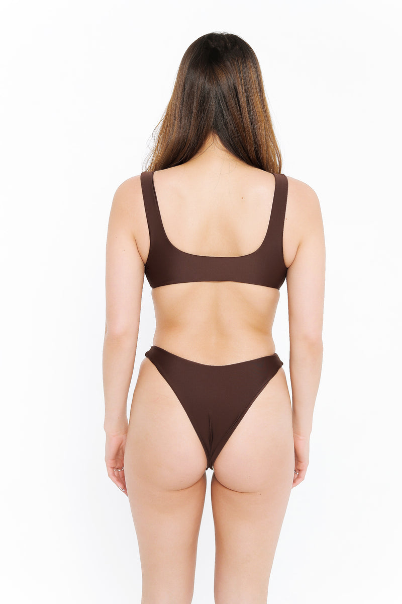 BELLA TOP - CHOCOLATE