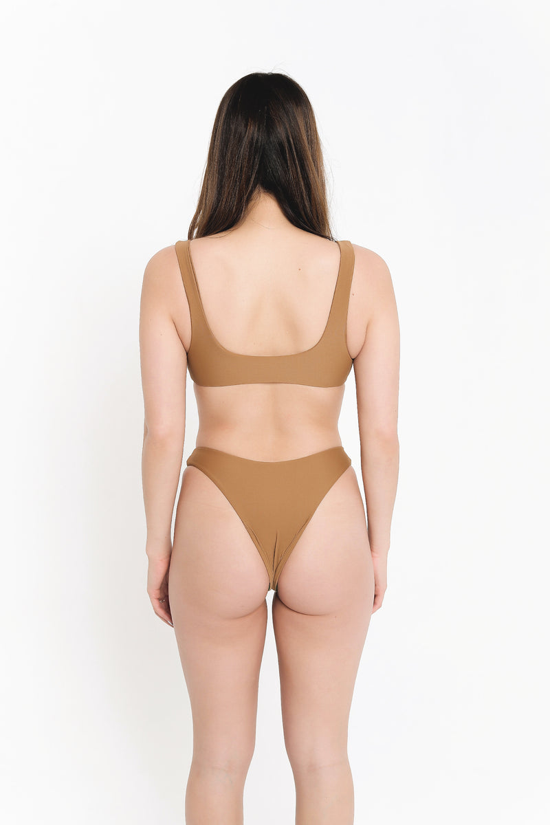 BELLA TOP - CAMEL
