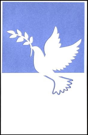 Blue dove lazer cut gift card
