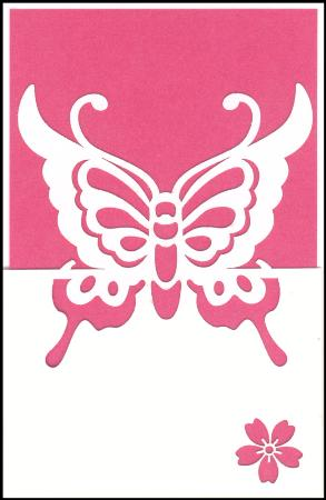 Pink butterfly lazer cut gift card