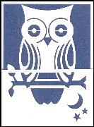 Blue owl lazer cut gift card