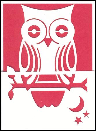 Red owl lazer cut gift card
