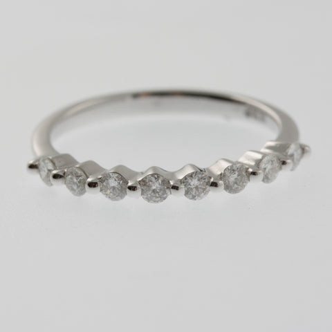 Diamond ring band, 8 bezel set