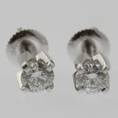 Diamond studs 40 points each in white gold