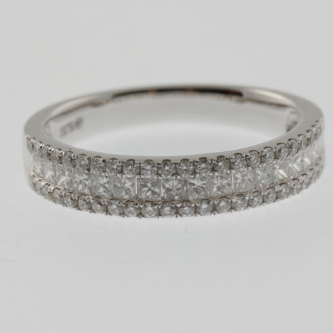 Diamond tiered ring band