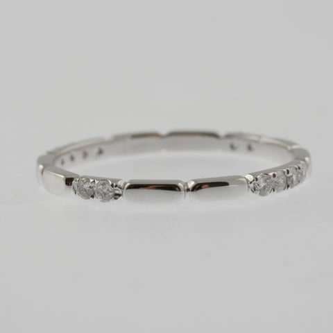 Diamond white gold ring band 360 pattern