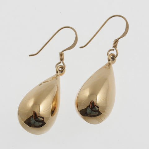 Euroball teardrop earrings in rose gold plated sterling silver