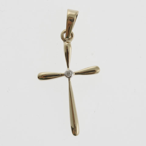 Yellow-gold-cross-with-diamond