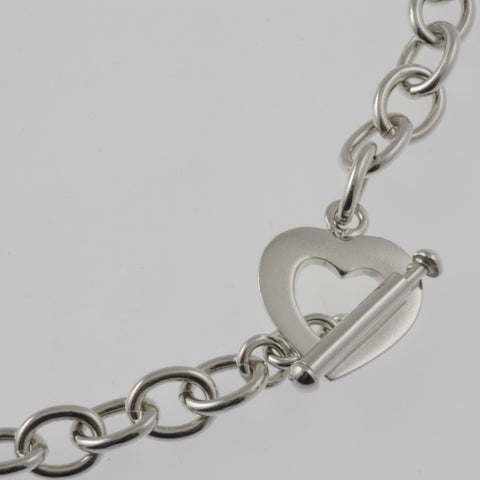 Heart clasp mexican silver necklace