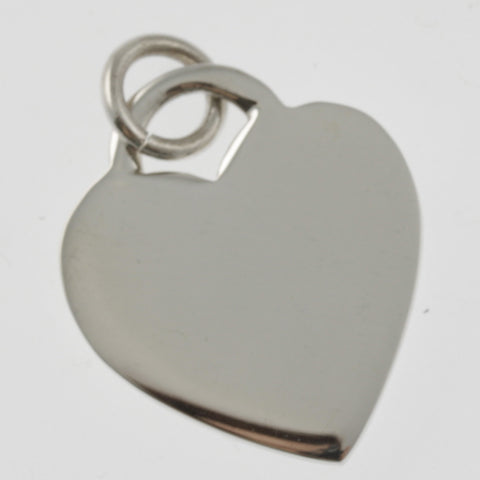 Heart large sterling silver pendant