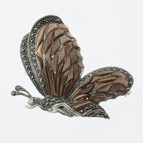 Jewelled butterfly brooch