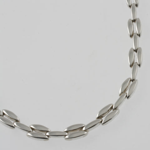 Leaf chain mexican silver necklace