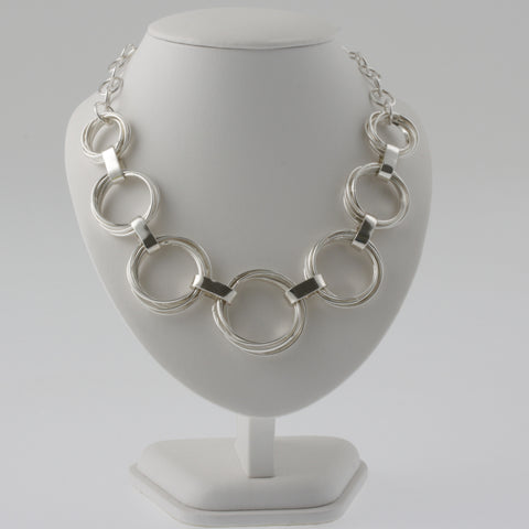 Many rings mexican silver necklace